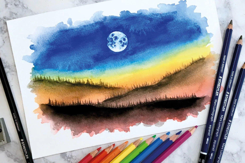 Blog Avete Mai Provato Dipingere Con Matite Acquerellabili