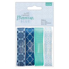 Set dei nastri decorativi - Moroccan Blue - 4 x 1 m