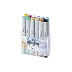 Pennarelli COPIC Classic Pastel Colours - set 12 pezzi