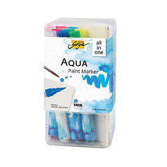 Set dei pennarelli ad acquerello Aqua Solo Goya Powerpack All-in-one