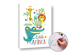 Dipingere con i numeri LITTLE AFRICA - Level Starter
