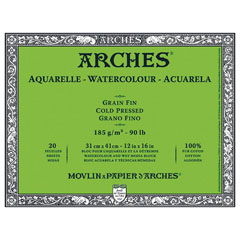 Blocco ARCHES® Aquarelle Watercolour Cold Pressed - sceglie formatoo
