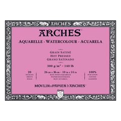 Blocco ARCHES® Aquarelle Watercolour Hot Pressed - 36 x 51 cm
