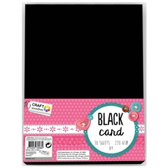 Cartone creativo Craft Sensations A4 Black - 10 fogli