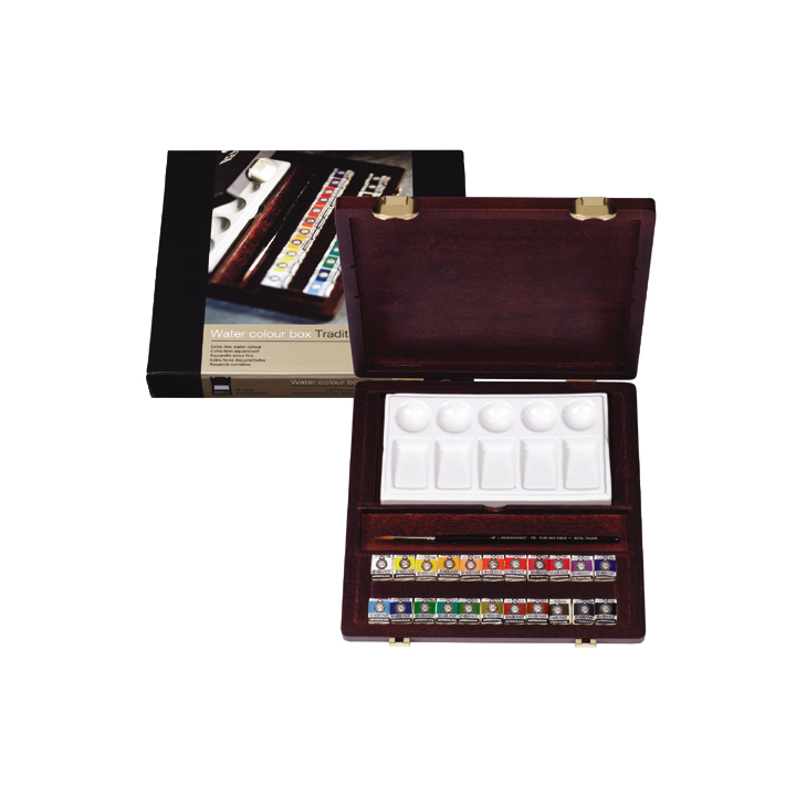 Colori ad acquerello Rembrandt box traditional/22 barattoli + accessori