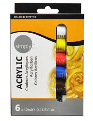 Daler-Rowney - set acrilico 6 x 12ml