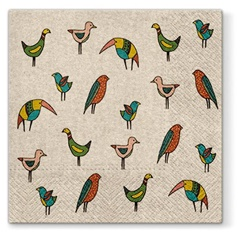 Eco tovagliolo per decoupage Bird Friends - 1 pz