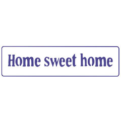 Modello PENTART Text Motif - Home sweet home