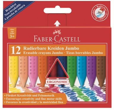 Pastelli in plastica GRIP Jumbo set di 12 #122540
