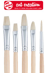 Pennelli ArtCreation in pelo naturale - set di 5 pennelli