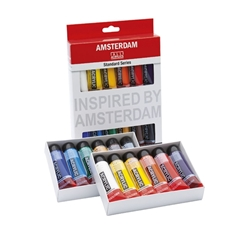 Set dei colori acrilici AMSTERDAM STANDARD SERIES - 12x20ml