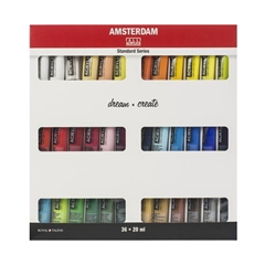 Set dei colori acrilici AMSTERDAM STANDARD SERIES - 36x20ml