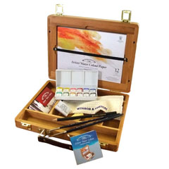 Set dei colori ad acquerello professionali Winsor & Newton Bamboo Box
