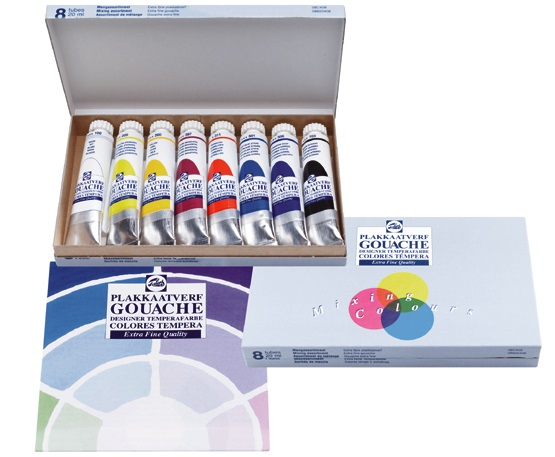 Set di colori a tempera GOUACHE TALENS 8x20ml