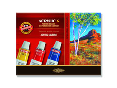 Set di colori acrilici 6X16ML