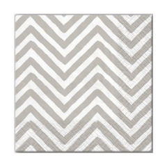 Tovagliolo per decoupage - Big Chevron Gray - 1 pz