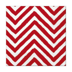 Tovagliolo per decoupage - Big Chevron Red - 1 pz