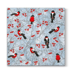 Tovagliolo per decoupage - Birds in winter - 1 pz