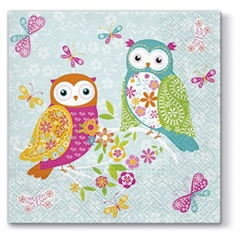 Tovagliolo per decoupage Magical Owls - 1 pz