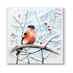 Tovagliolo per decoupage - Winter bird - 1 pz